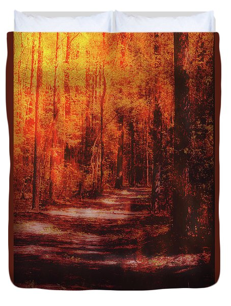 Abstract Path Duvet Cover