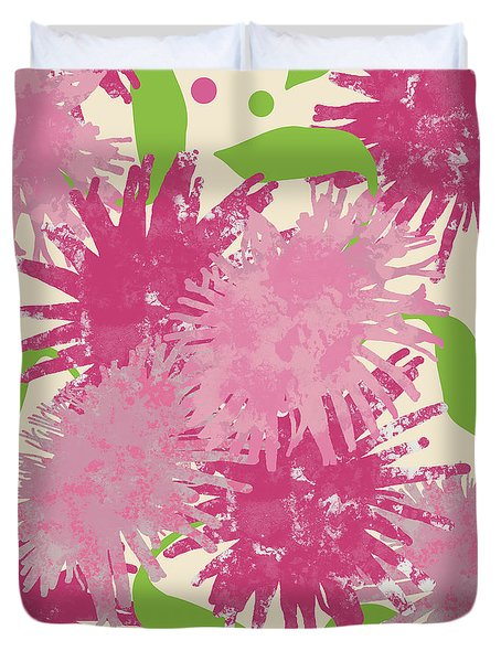 Abstract Pink Puffs Duvet Cover