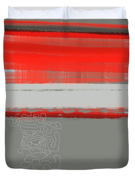 Abstract Red 1 Duvet Cover
