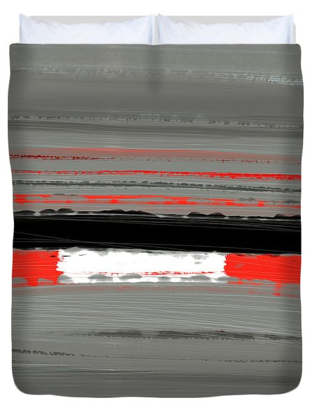Abstract Red 4 Duvet Cover