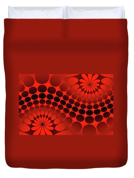 Abstract Red And Black Ornament Duvet Cover