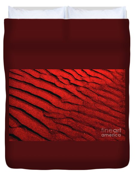 Abstract Red Sand- 2 Duvet Cover