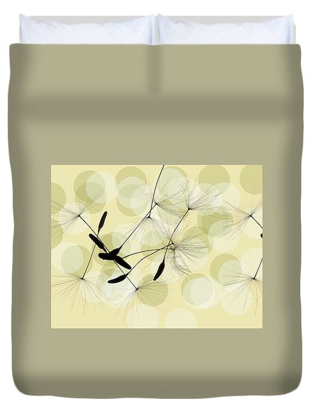 Abstract Botanical Duvet Cover