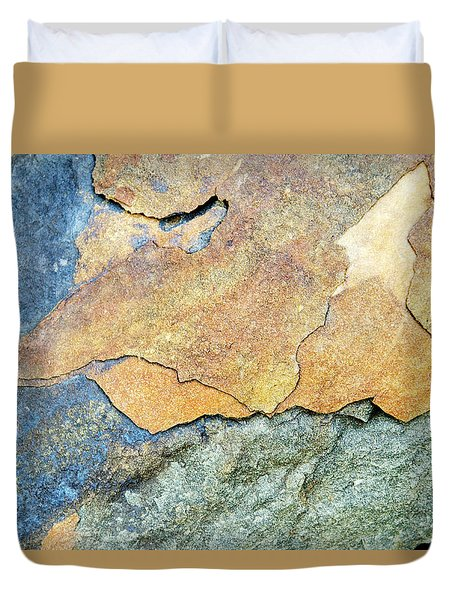 Duvet Cover featuring the photograph Abstract Rock by Christina Rollo