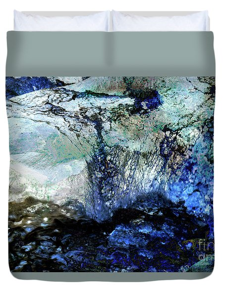 Abstract Runoff Duvet Cover