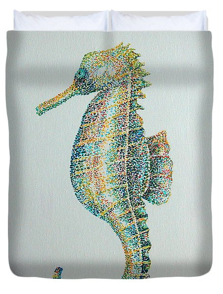 Abstract Seahorse Duvet Cover