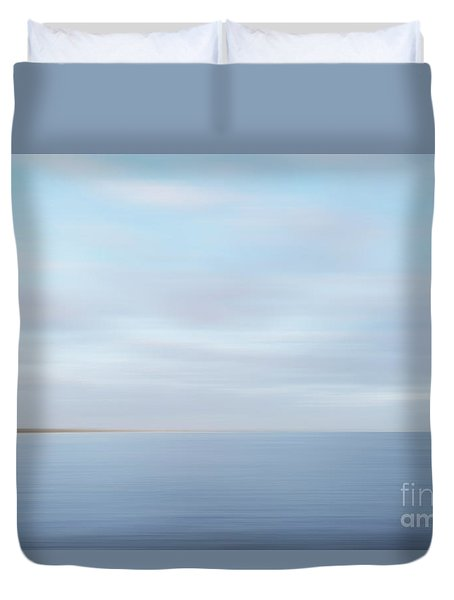 Duvet Cover featuring the photograph Abstract Seascape by Ivy Ho