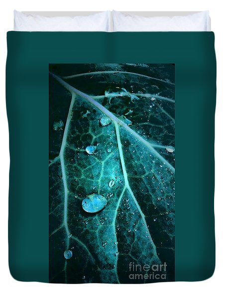 Aqua Abstract Storm In New Orleans Louisiana Duvet Cover