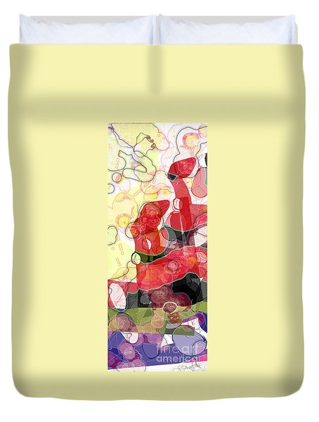 Abstract Submarine Duvet Cover
