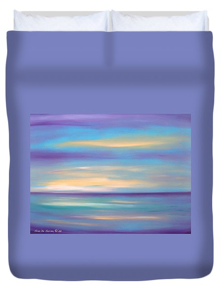 Abstract Sunset In Purple Blue And Yellow Duvet Cover