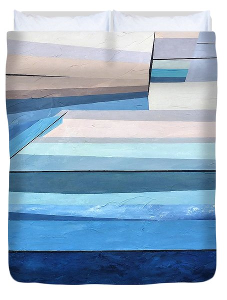 Abstract Swimming Pool Duvet Cover