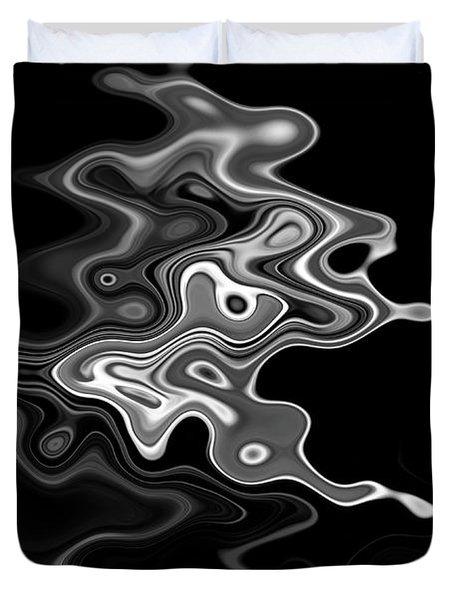 Abstract Swirl Monochrome Duvet Cover