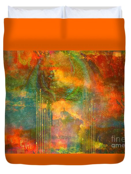 Abstract The World As It Is  Duvet Cover