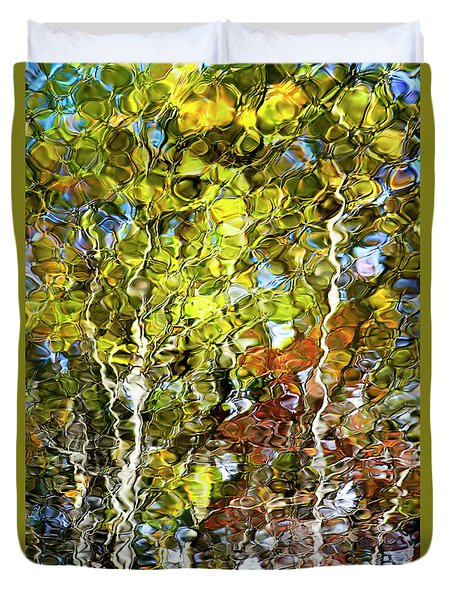 Abstract Tree Reflection Duvet Cover by Christina Rollo