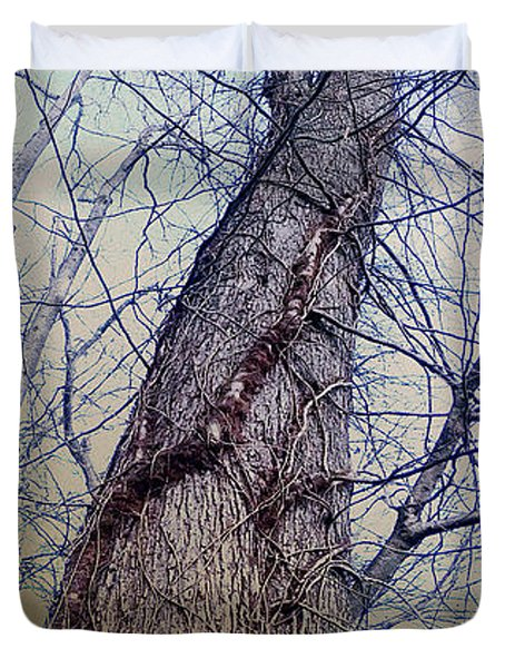 Abstract Tree Trunk Duvet Cover