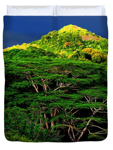 Abstract Trees 37 Duvet Cover