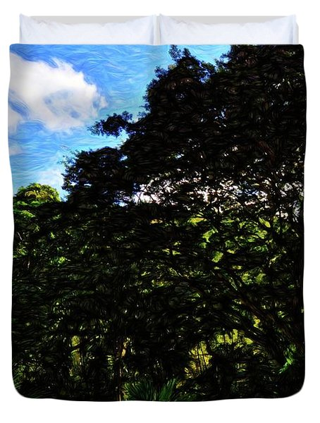 Abstract Trees 5804 Duvet Cover