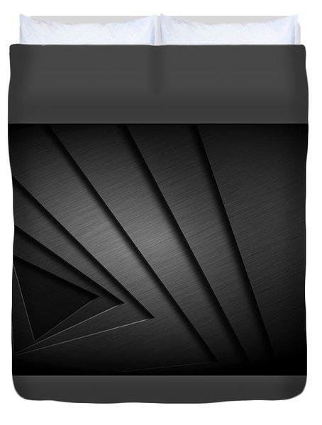 Abstract Triangular Vortex Duvet Cover