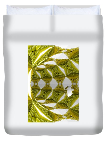 Abstract Tunnel Of Yellow Grapes  Duvet Cover