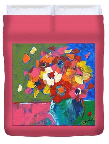 Abstract Vase Duvet Cover