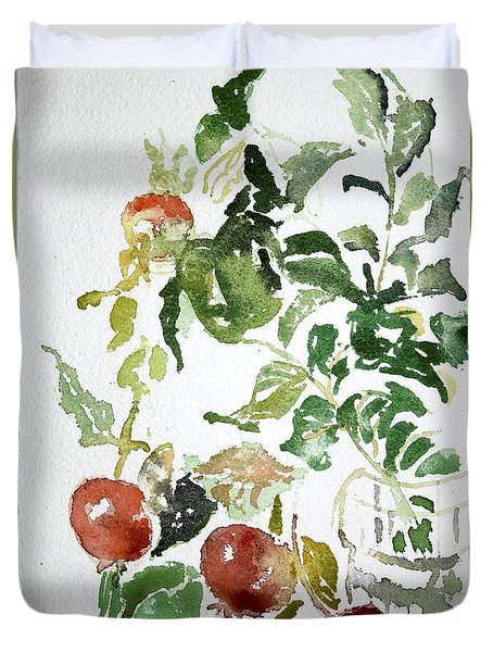 Abstract Vegetables Duvet Cover