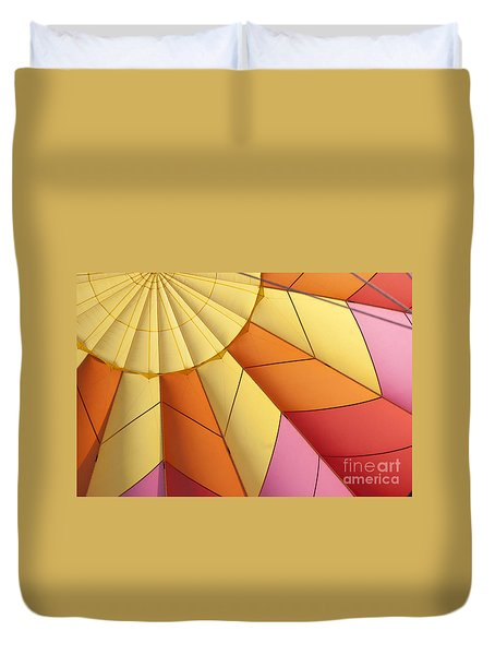 Abstract View Of Hot Air Balloon Duvet Cover