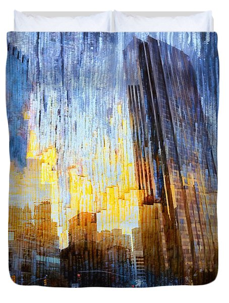 Duvet Cover featuring the photograph Abstract Vision by John Rivera