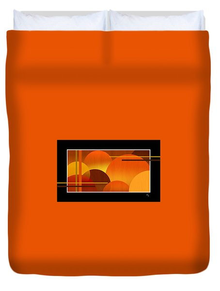 Abstract Warm Spheres Duvet Cover