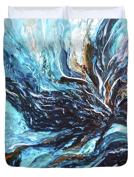 Abstract Water Dragon Duvet Cover