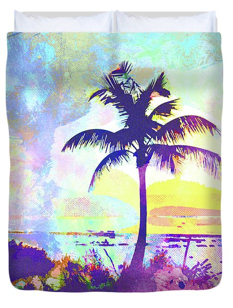 Abstract Watercolor - Beach Sunset I Duvet Cover