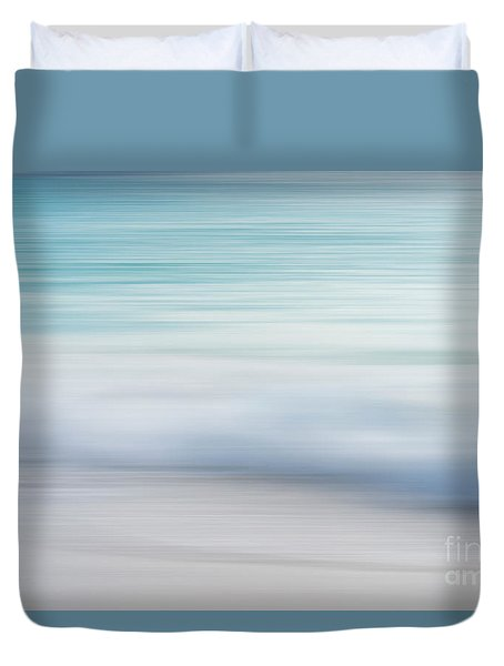 Duvet Cover featuring the photograph Abstract Wave Photograph by Ivy Ho