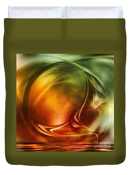 Abstract Whiskey Duvet Cover by Johnny Hildingsson