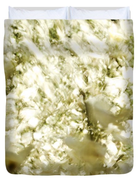 Abstract White Duvet Cover by Ray Laskowitz - Printscapes