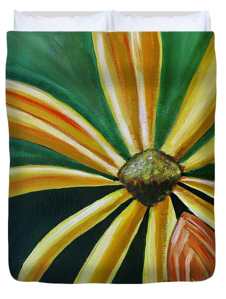 Abstract Yellow Sunflower Art Floral Painting Duvet Cover