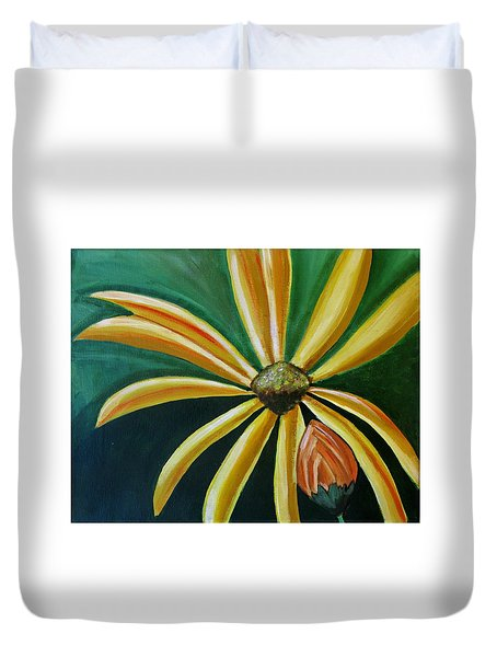 Abstract Wildflower - Floral Painting Duvet Cover