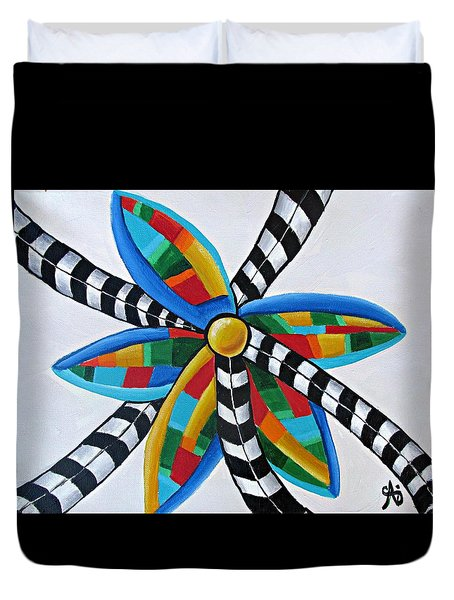 Abstract Windmill  Duvet Cover