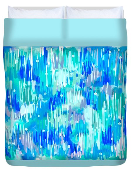 Abstract Winter Duvet Cover