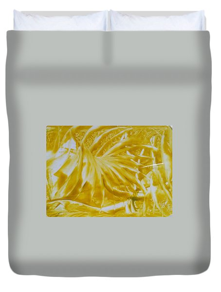 Abstract Yellow  Duvet Cover