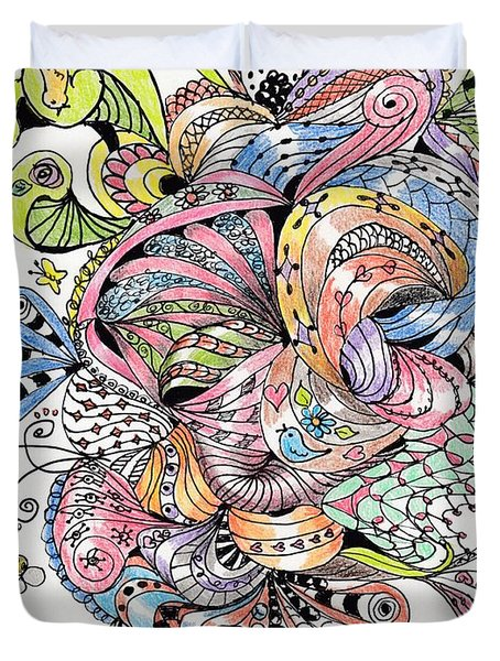 Abstract2colored Duvet Cover by Quwatha Valentine