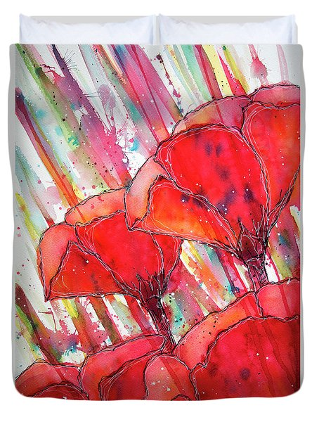 Abstracted Poppies No.2 Duvet Cover