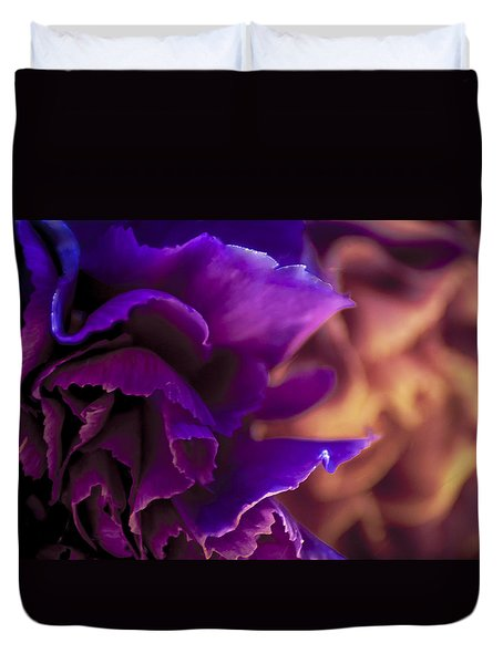 Abstracting The Flowers Duvet Cover