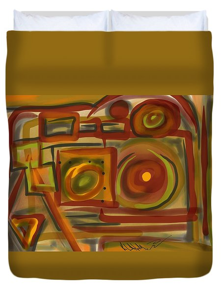 Abstraction Collect 4 Duvet Cover