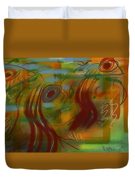 Abstraction Collect 5 Duvet Cover