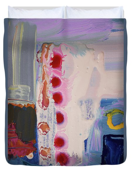 abstraction, fire in the Chakras Duvet Cover by Amara Dacer