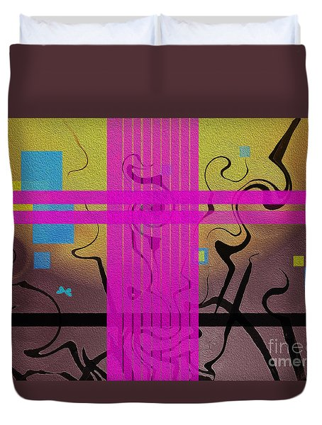 Abstraction Duvet Cover by Mim White