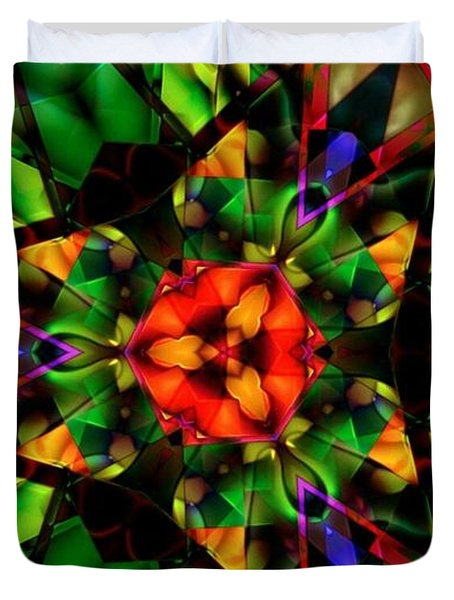 Abstraction Of Christmas Duvet Cover