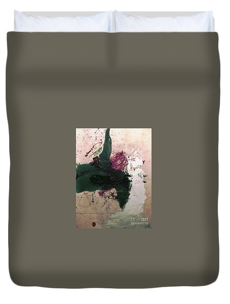 Abstraction White Red Green  Duvet Cover