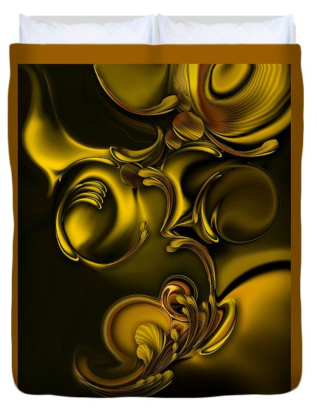 Duvet Cover featuring the digital art Abstraction With Meditation by Carmen Fine Art