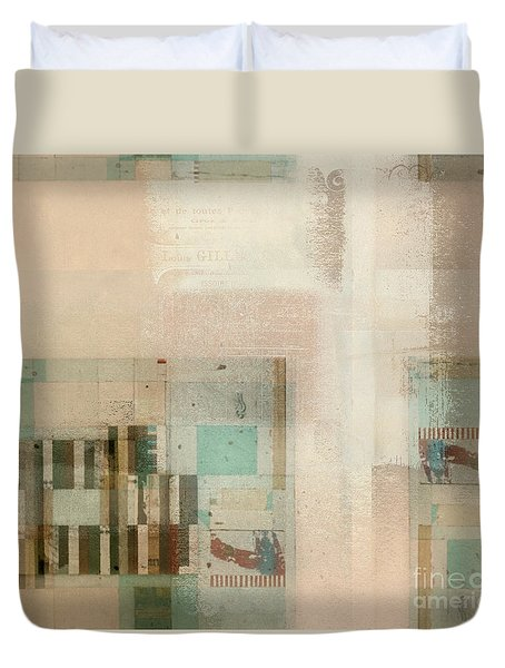 Duvet Cover featuring the digital art Abstractitude - C01b by Variance Collections