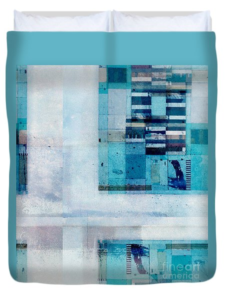 Duvet Cover featuring the digital art Abstractitude - C02v by Variance Collections